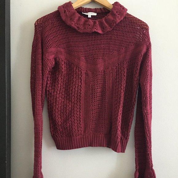 Rebecca Minkoff deep red sweater